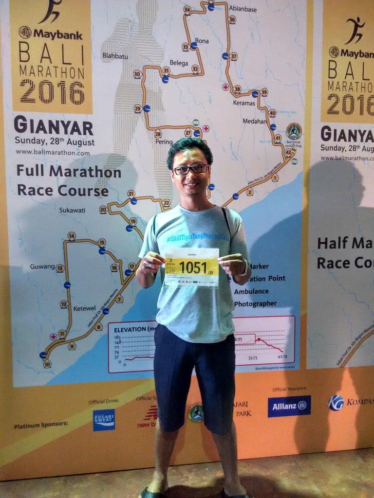 Bersiap sebelum maraton